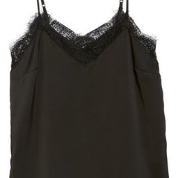 Women's Halogen Lace Detail Cami, Size X-Small - Black | Nordstrom