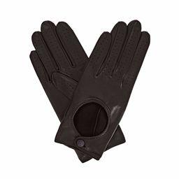 Gizelle Renee - Bega Black Leather Driving Gloves With Black Tweed | Wolf & Badger (US)