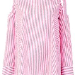 Steffen Schraut striped bow blouse - Red | FarFetch US