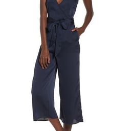 Women's The Fifth Label Moonlit Satin Jumpsuit, Size XX-Small - Blue | Nordstrom