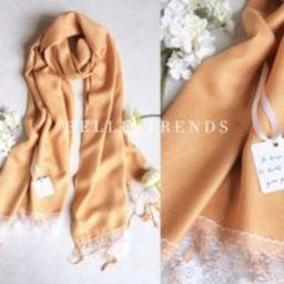Gold Pashmina Scarf, Set of 1,2,3,4,5, 6, Pashmina Lace Shawl, Pashmina shawl, Wedding Favor, Bridal Shower Gift, Bridal Shawl, Wraps   Etsy (US)