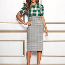Eva Mendes Collection - Tall Deja Plaid Pencil Skirt   New York & Company
