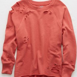 Aerie Distressed City Sweatshirt | American Eagle Outfitters (US & CA)