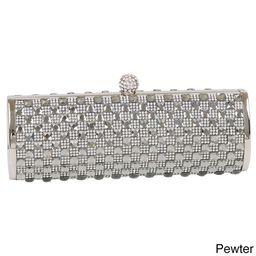 J. Furmani Checkered Crystal Clutch | Overstock