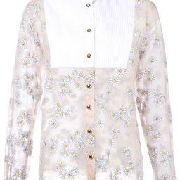Macgraw - Fresh & Clean shirt - women - Silk - 10, Pink/Purple, Silk | FarFetch US