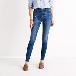 "9"" High-Rise Skinny Jeans in Hammond Wash: Drop-Hem Edition | Madewell"