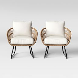 Southport 2pk Patio Club Chair Linen - Opalhouse   Target