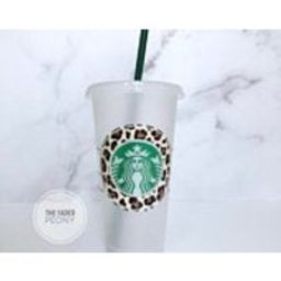 Tan Leopard Starbucks Cup, Starbucks Tumbler, Custom Starbucks Tumbler, Cheetah Personalized Starbucks Cup, Teacher gift, Coffee Cup   Etsy (US)