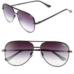 Women's Quay Australia X Desi Perkins High Key Mini 57Mm Aviator Sunglasses - Black/ Fade To Clear | Nordstrom