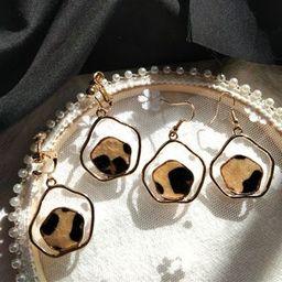Leopard Print Earring / Clip-On Earring | YesStyle Global