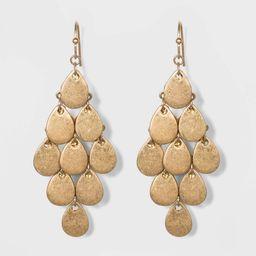 Teardrop Kite Drop Earrings - Universal Thread Gold, Women's | Target