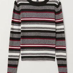 H & M - Ribbed Jersey Top - Black   H&M (US)