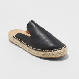 Women's Clara Espadrille Flat Mules - Universal Thread Black 7 | Target