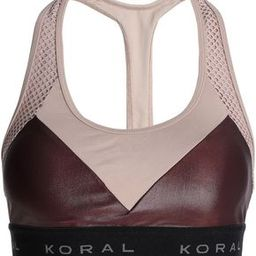 Koral Woman Mesh-paneled Two-tone Stretch Sports Bra Merlot Size L | The Outnet US