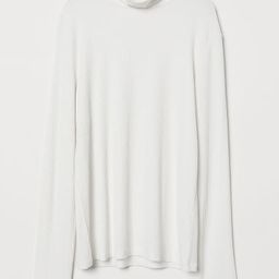 H & M - Turtleneck Top - White   H&M (US)