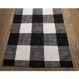 Back in Stock Our Best Seller Fashionable Table Runner for Holiday Wedding Fall Decor Black and White Buffalo Plaid   Etsy (US)