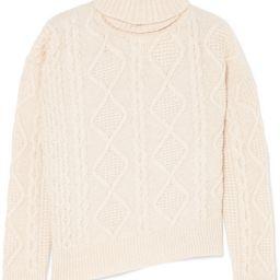Vanessa Bruno - Jaira Cable-knit Wool Turtleneck Sweater - Cream | Net-a-Porter (US)