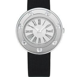Possession Diamond, 18K White Gold & Satin Bracelet Watch | Saks Fifth Avenue