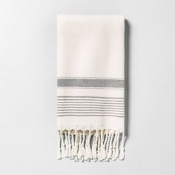 Hand Towel Striped Gray - Hearth & Hand with Magnolia, Black | Target