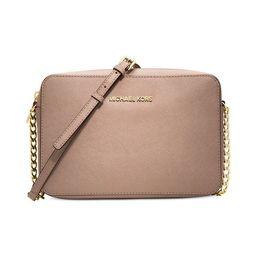 Michael Kors Jet Set Saffiano Soft Pink/Fawn Large Travel Crossbody Bag   Overstock