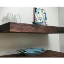 Floating Shelf Walnut kitchen shelf Open kitchen shelves Walnut shelves Modern wood shelves Wall shelves | Etsy (US)