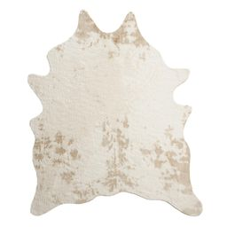 Ivory Printed Faux Cowhide Area Rug: White - 6Ftx8Ft by World Market 6Ftx8Ft | World Market