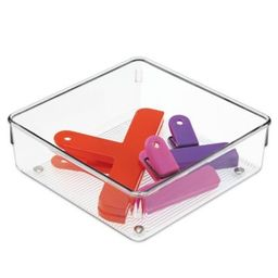 InterDesign® Linus Acrylic 6.4-Inch x 6.4-Inch Drawer Organizer   Bed Bath & Beyond