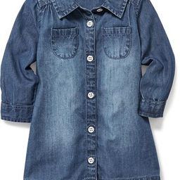 Chambray Pocket Shirt Dress for Baby | Old Navy US