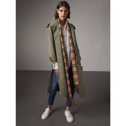 Burberry Side-slit Tropical Gabardine Trench Coat, Size: 06, Green | Burberry (US)