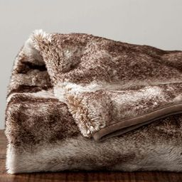 Faux Fur Throw - Caramel Ombre | Pottery Barn (US)