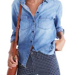Women's Madewell Cutoff Denim Shirt   Nordstrom