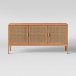 """54"""""""" Minsmere Caned TV Stand Natural Brown - Opalhouse 