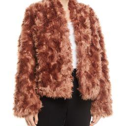 Plush Faux-Fur Cropped Jacket   Bergdorf Goodman