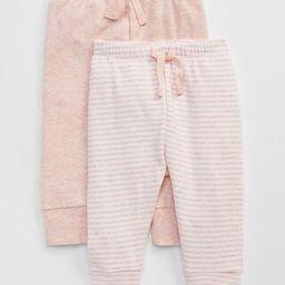 Gap Baby Favorite Stripe Knit Pants (2-Pack) Pink Heather Size 0-3 M | Gap US