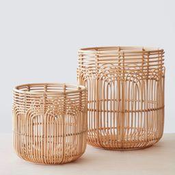 Naga Rattan Baskets - Set of Two (1 ea.) | The Citizenry