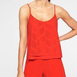 Athleta Womens Fws Perforated Cami Saffron Red Size L | Athleta