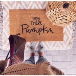 Hey There Pumpkin Door Mat  Pumpkin Door Mat  Fall Door Mat  Front Door Mat  Fall Front Door Mat  Pumpkin Front Door Mat  Outdoor Mat | Etsy (US)