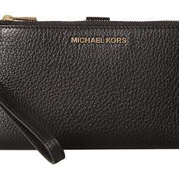 MICHAEL Michael Kors Adele Double-Zip Wristlet 7+ (Black) Wristlet Handbags | Zappos