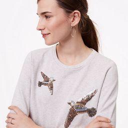 LOFT Beaded Bird Sweatshirt | LOFT