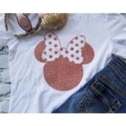 Disney Shirts/Disney Ears/Glitter Rose Gold Disney Minnie Mouse Shirt/Disney Shirts for Women/Disney Family Shirts/Minnie Mouse Ears/Disney | Etsy (US)