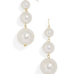 Pearl Crispin Ball Drop Earrings | BaubleBar (US)