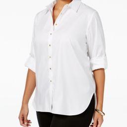 Calvin Klein Plus Size High-Low Button-Front Shirt | Macys (US)