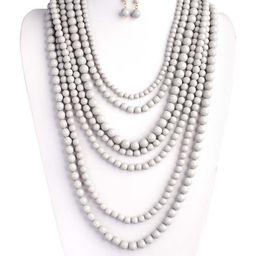 Light Gray & Goldtone Bubble Multi-Strand Necklace & Earrings   zulily