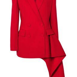 Alexander McQueen - Asymmetric Double-breasted Wool-blend Blazer - Red | Net-a-Porter (US)