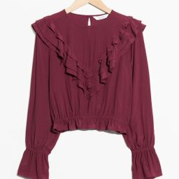 Ruffle Blouse - Red | & Other Stories