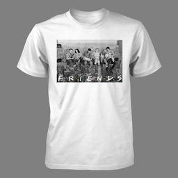 Men's Friends Short Sleeve Graphic T-Shirt - White S   Target