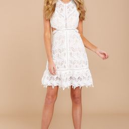 Just Once White Lace Dress   Red Dress