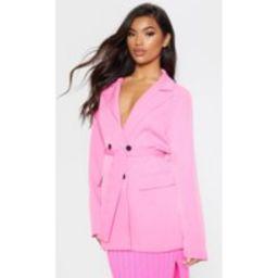 Pink Belted Longline Blazer | Pretty Little Thing US