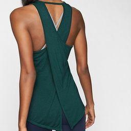 Athleta Womens Essence Tie Back Tank Dark Jade Size L   Athleta