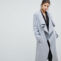 Missguided Waterfall Duster Coat - Gray | ASOS US